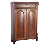 Victorian Mahogany Cabinet with Central Drawer Late 19th Century