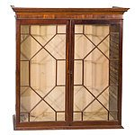 Mahogany and Astragal Glazed Bookcase Top 19th Century