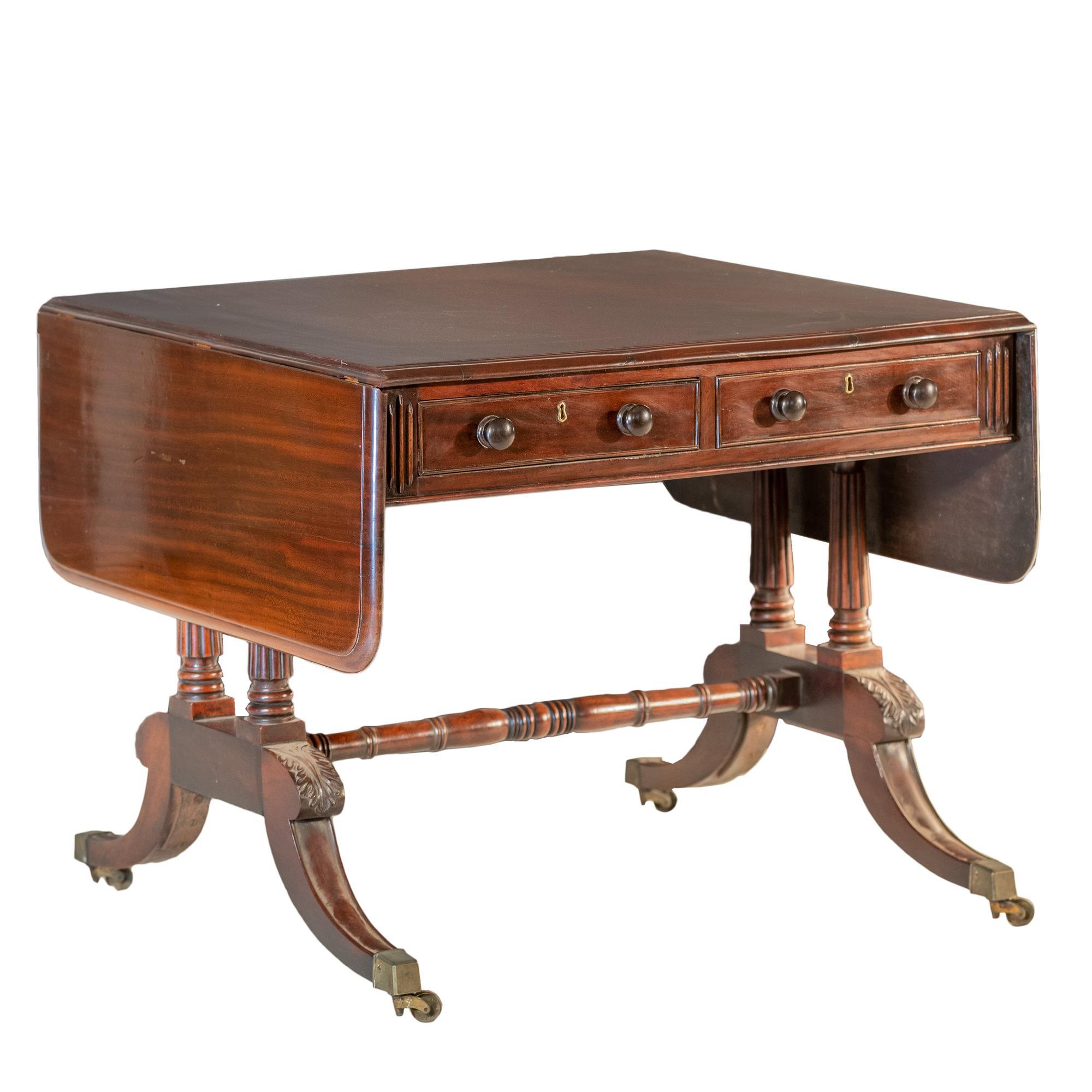 'Regency Mahogany Sofa Table 19th Century'
