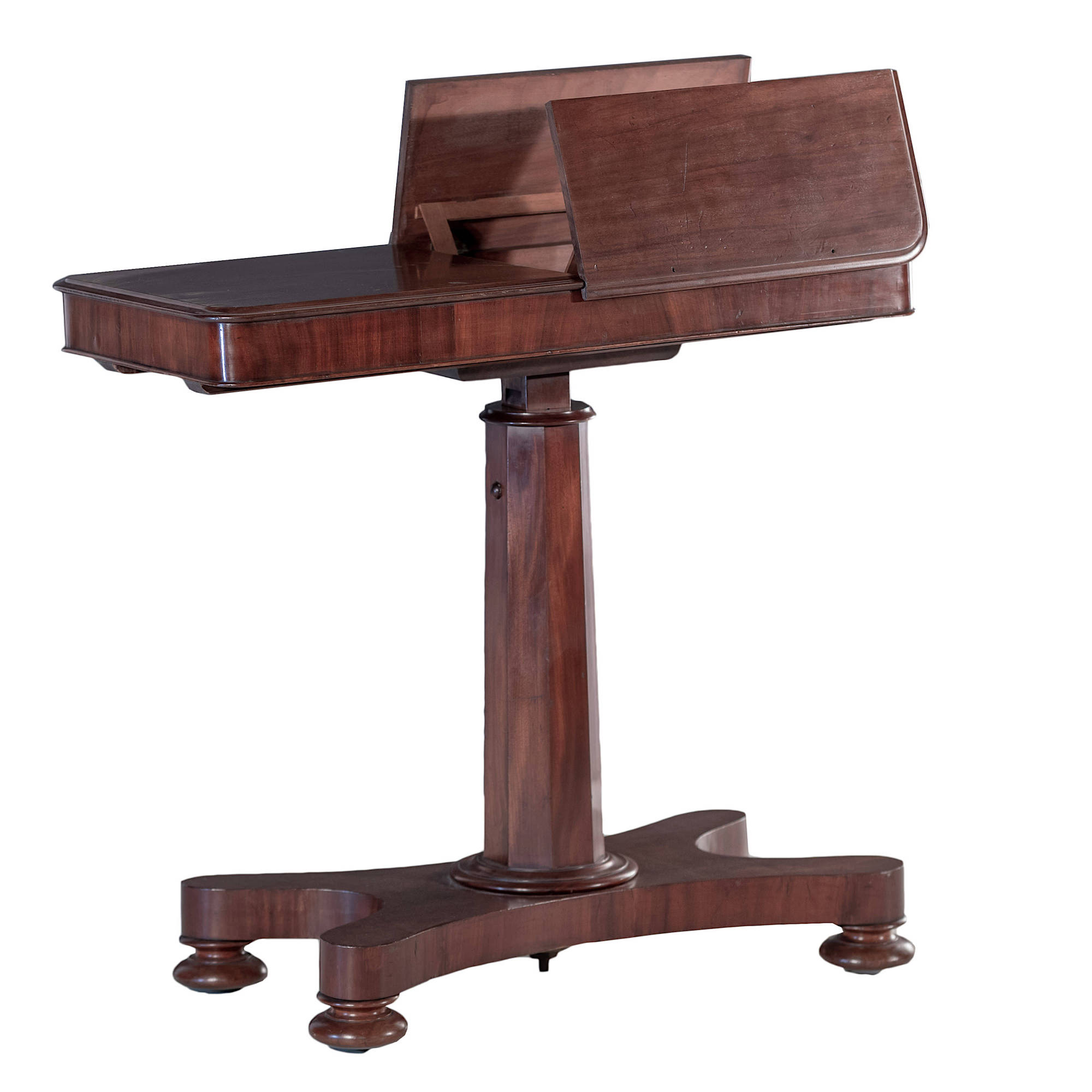 'Early Victorian Mahogany Adjustable Reading Table with Opposing Reading Lecterns Circa 1840'