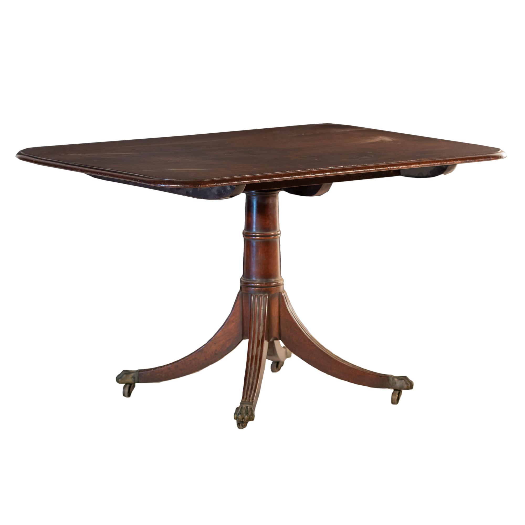 'Regency Mahogany Tilt Top Supper Table with Quadruped Base Circa 1815'