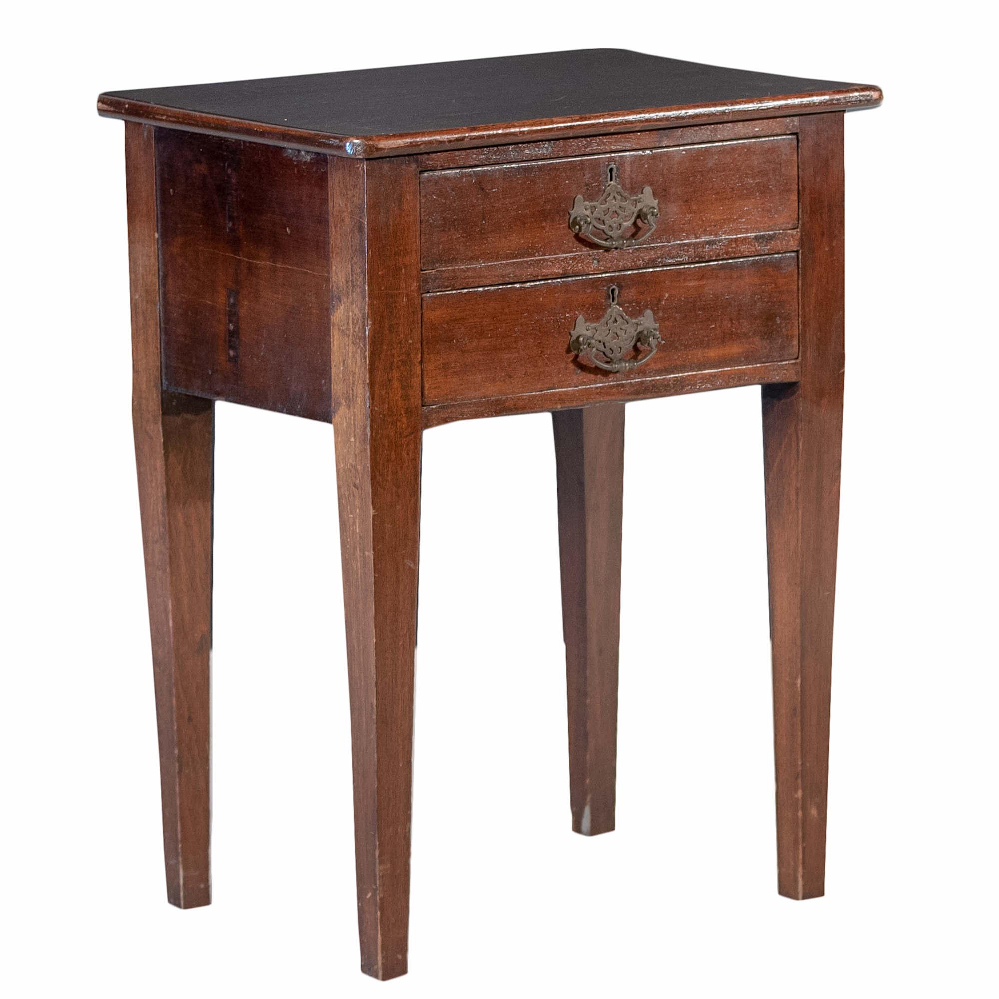 'Australian Cedar Two Drawer Work Table 19th Century'