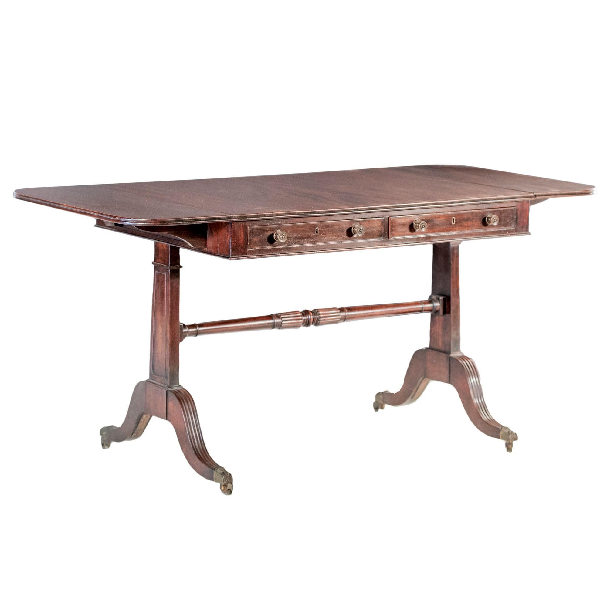 'Regency Style Mahogany Sofa Table Late 19th Century'