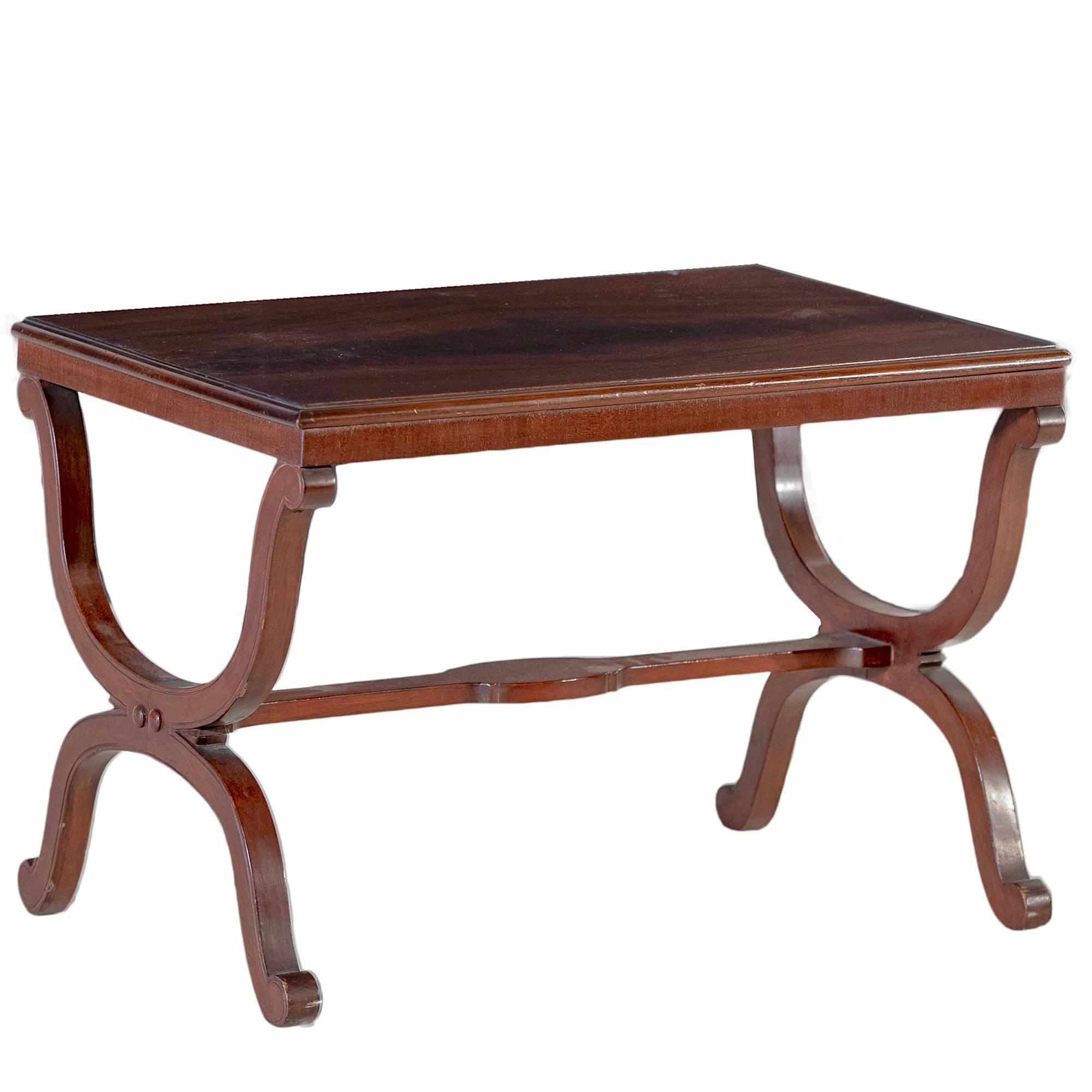 'Cedar X-Framed Side Table 20th Century'