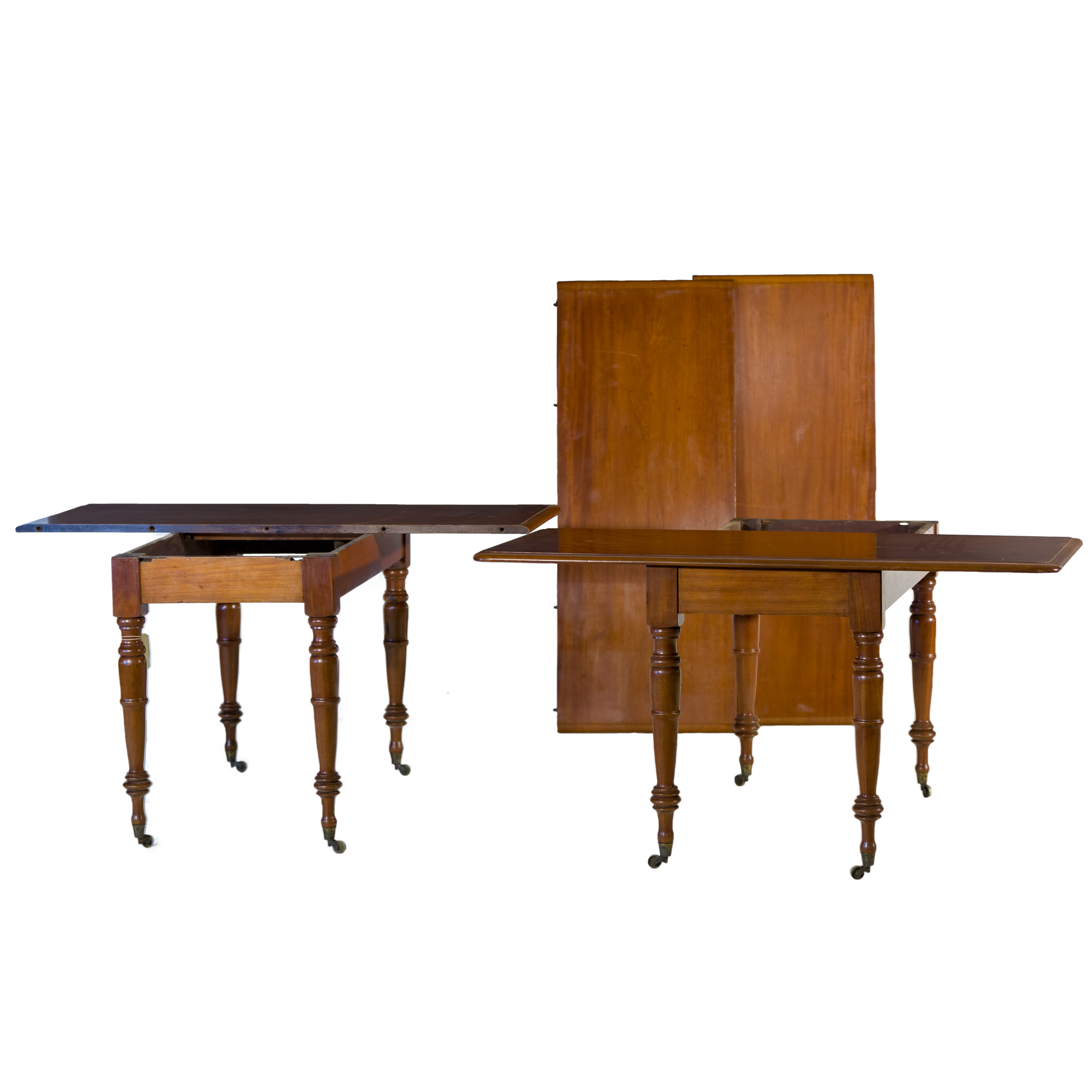 'Unusual Victorian Mahogany Extension Dining Table Converts to Side Tables Circa 1880 '
