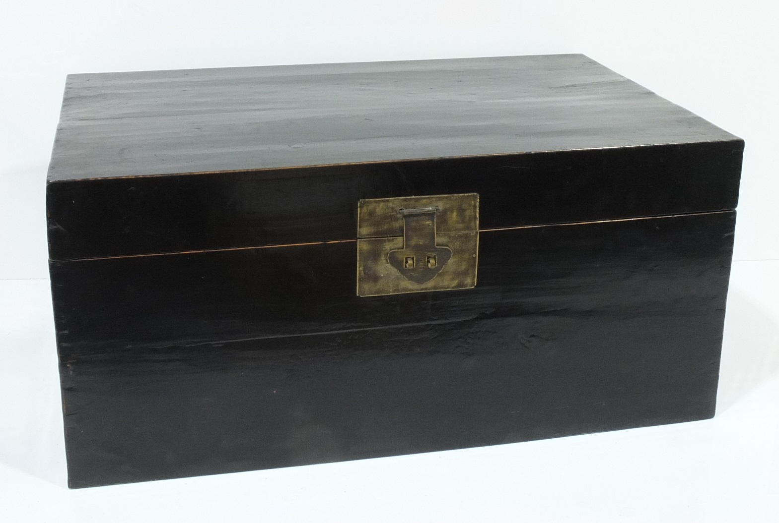 'Chinese Black Lacquered Trunk 20th Century'