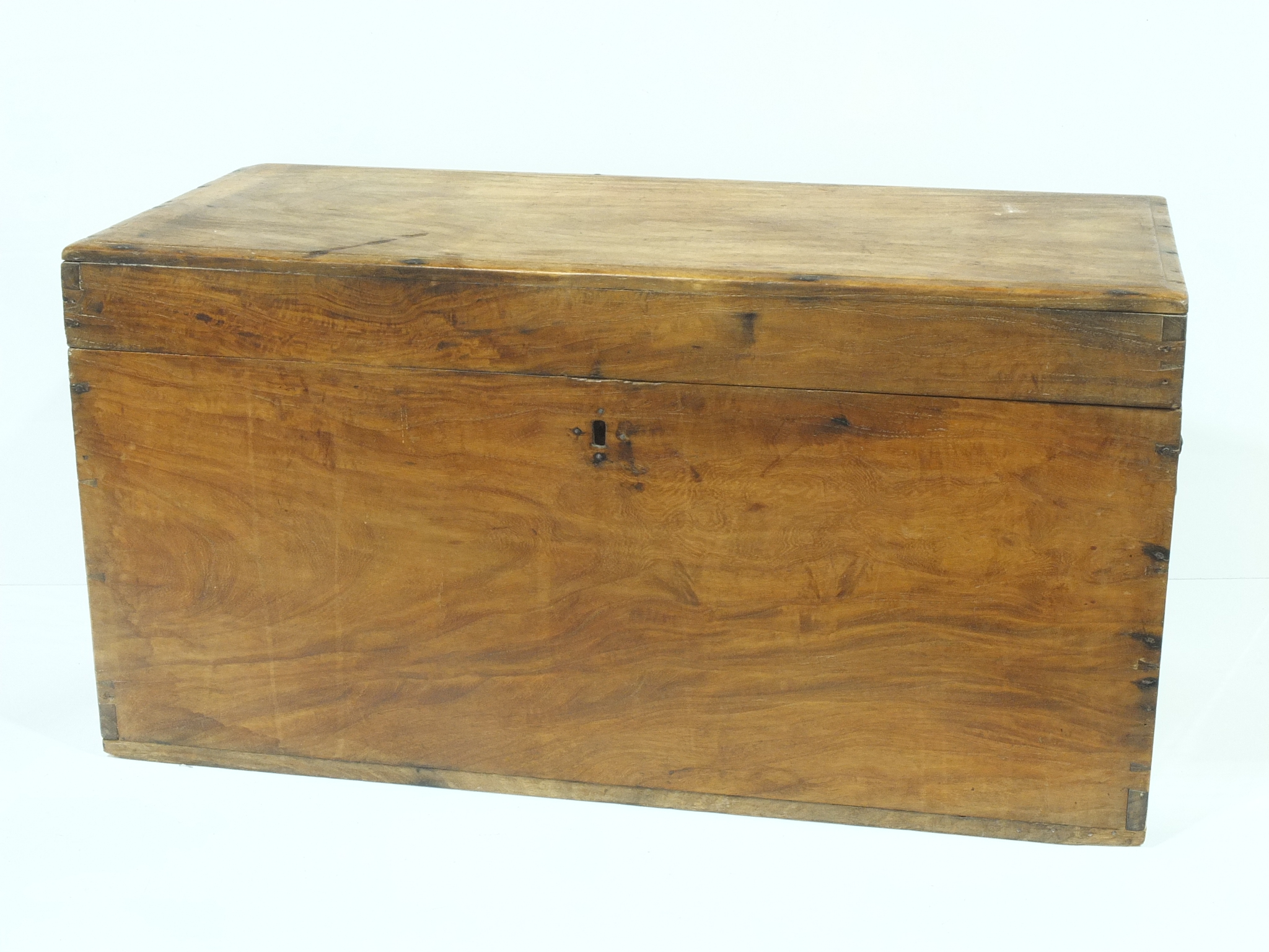 'Antique Anglo Indian Teak Trunk'