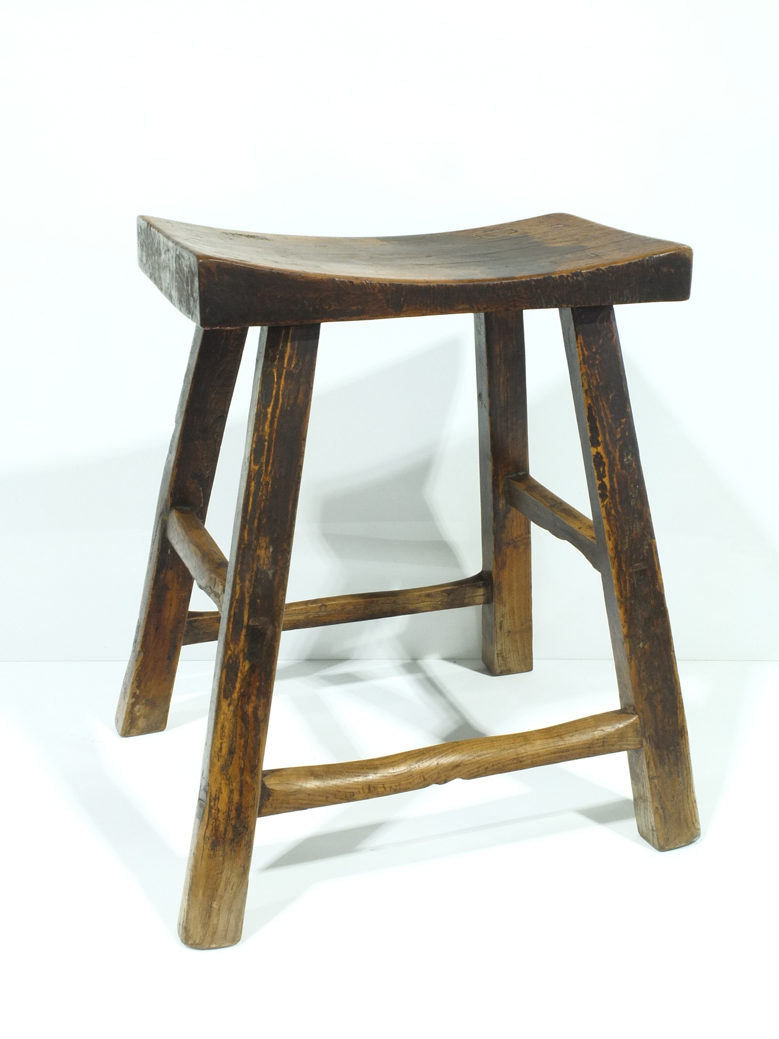'Chinese Elm Stool 20th Century'