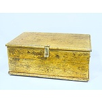 Vintage Yellow Painted Kauri Pine Trunk