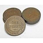Australian George V Pennies 1922