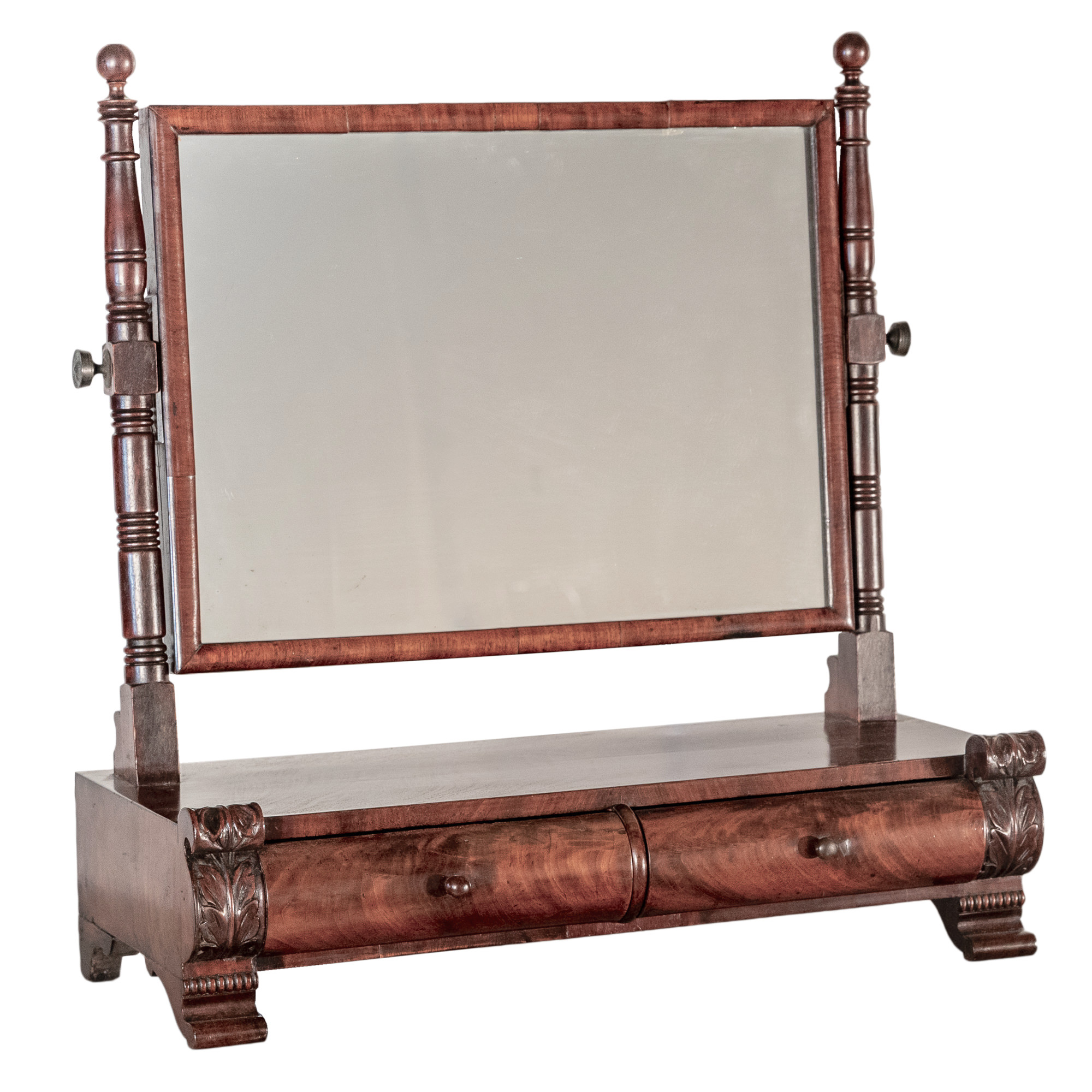 'Regency Mahogany Toilet Mirror with Two Drawers Circa 1820'