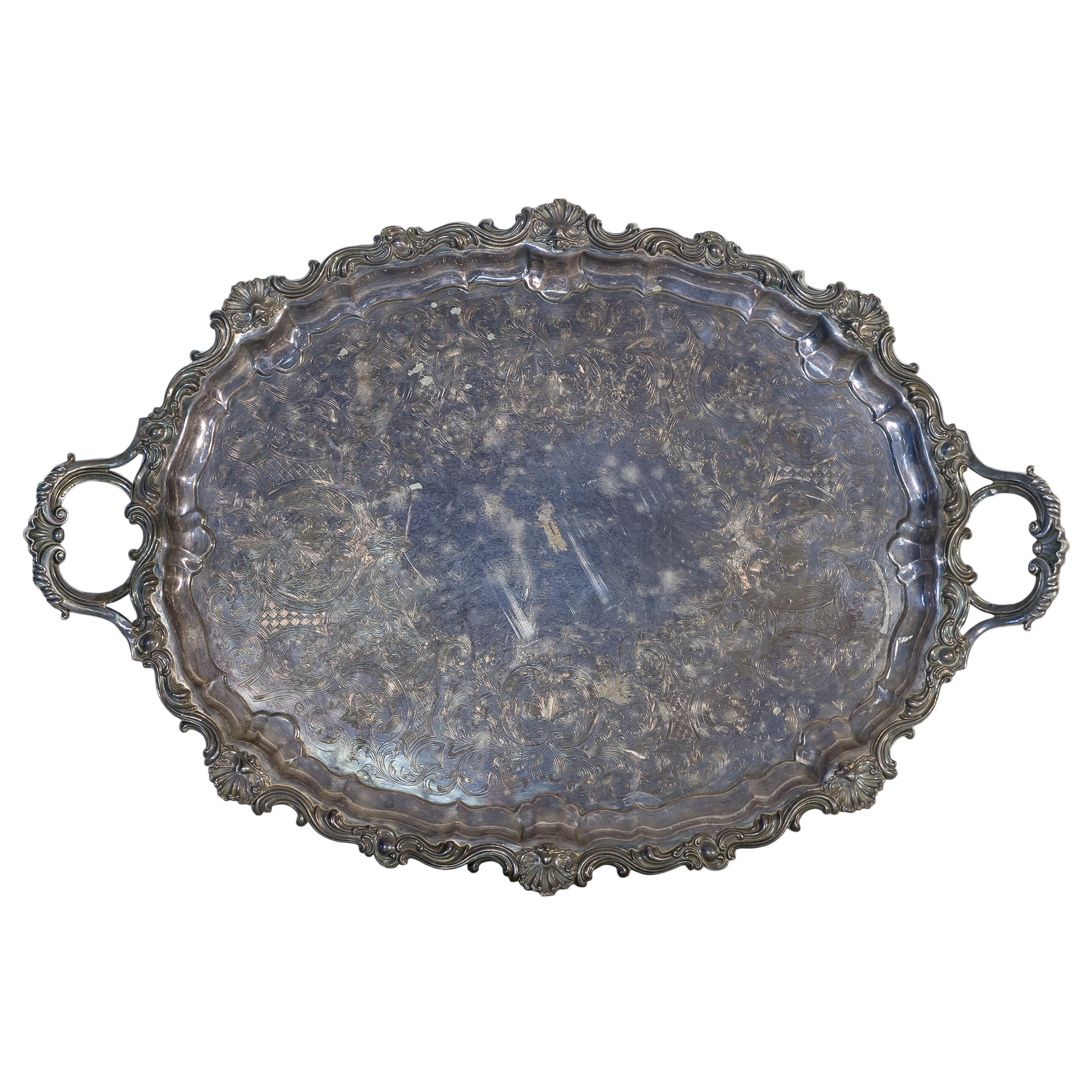 'Large T & J Creswick Silver Plate Butlers Tray'