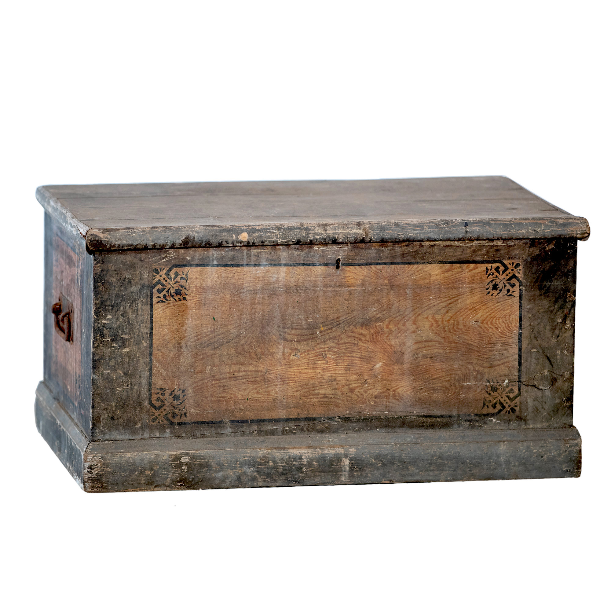 'Continental Painted Pine Blanket Box 19th Century'