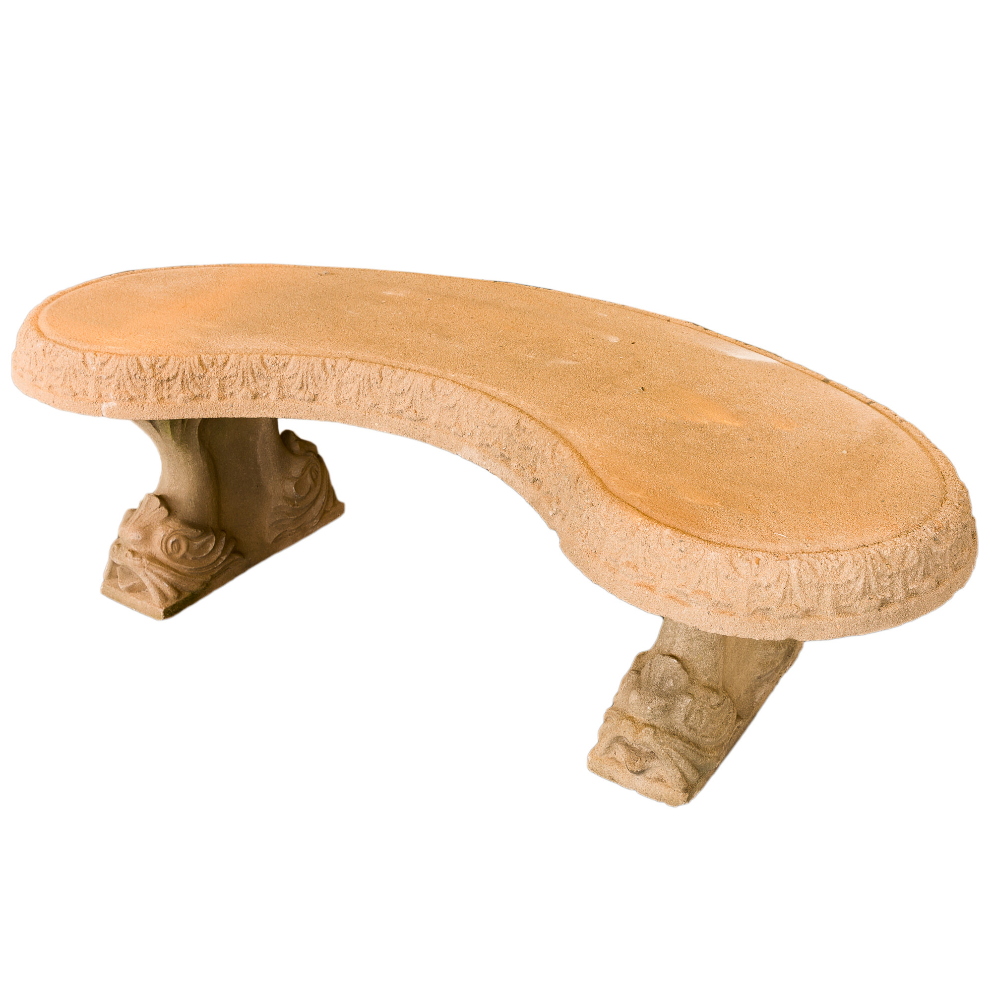 'Cast Composite Sandstone Style Garden Bench'