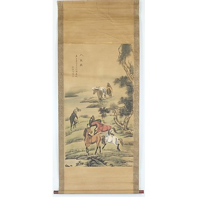 Two Reproduction Chinese Scroll Paintings