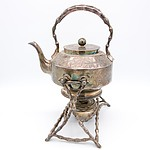 Walker and Hall Sheffield Plate Spirit Kettle
