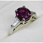 Platinum Ruby & Diamond Ring, Value $9,660