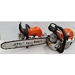 Stihl Farm Boss Petrol Chain Saws - Lot of Two