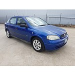 6/2005 Holden Astra Classic Equipe TS MY05 5d Hatchback Blue 1.8L