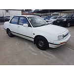 8/1991 Daihatsu Applause LI  4d Sedan White 1.6L