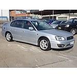 11/2001 Subaru Liberty Heritage (awd) MY01 4d Sedan Silver 2.5L