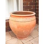 Greco Roman Style Tapered Terracotta Planter