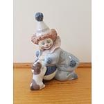 Lladro Clown and Dog Figure