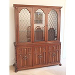 Antique Style Berryman Furniture Chestnut Display Cabinet