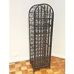 Tall Decorative Metal Wine Rack