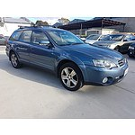 10/2003 Subaru Outback 3.0R Premium MY04 4d Wagon Blue 3.0L