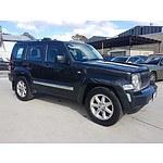 1/2011 Jeep Cherokee Limited (4x4) KK 4d Wagon Black 3.7L