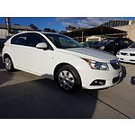 3/2012 Holden Cruze CD JH MY12 5d Hatchback White 1.8L