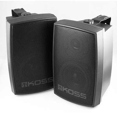 Koss W56 Indoor/Outdoor 30 Watt Wall Mounting Speakers - Brand New