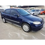 11/2000 Holden Astra CITY TS 4d Sedan Blue 1.8L