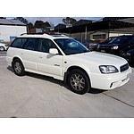 10/2001 Subaru Outback H6 MY01 4d Wagon White 3.0L