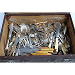 Antique Suitcase Full of Antique Cutlery