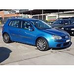 2/2005 Volkswagen Golf 1.6 Trendline 1K 5d Hatchback Blue 1.6L
