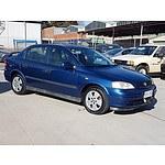 9/2002 Holden Astra CD TS 4d Sedan Blue 1.8L