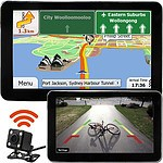 7 inch GPS & Wireless Reversing Camera with Night Vision Bluetooth & Australian Maps - Brand New