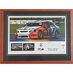 Signed Steven and Dick Johnson Ford Falcon BF Framed Photo