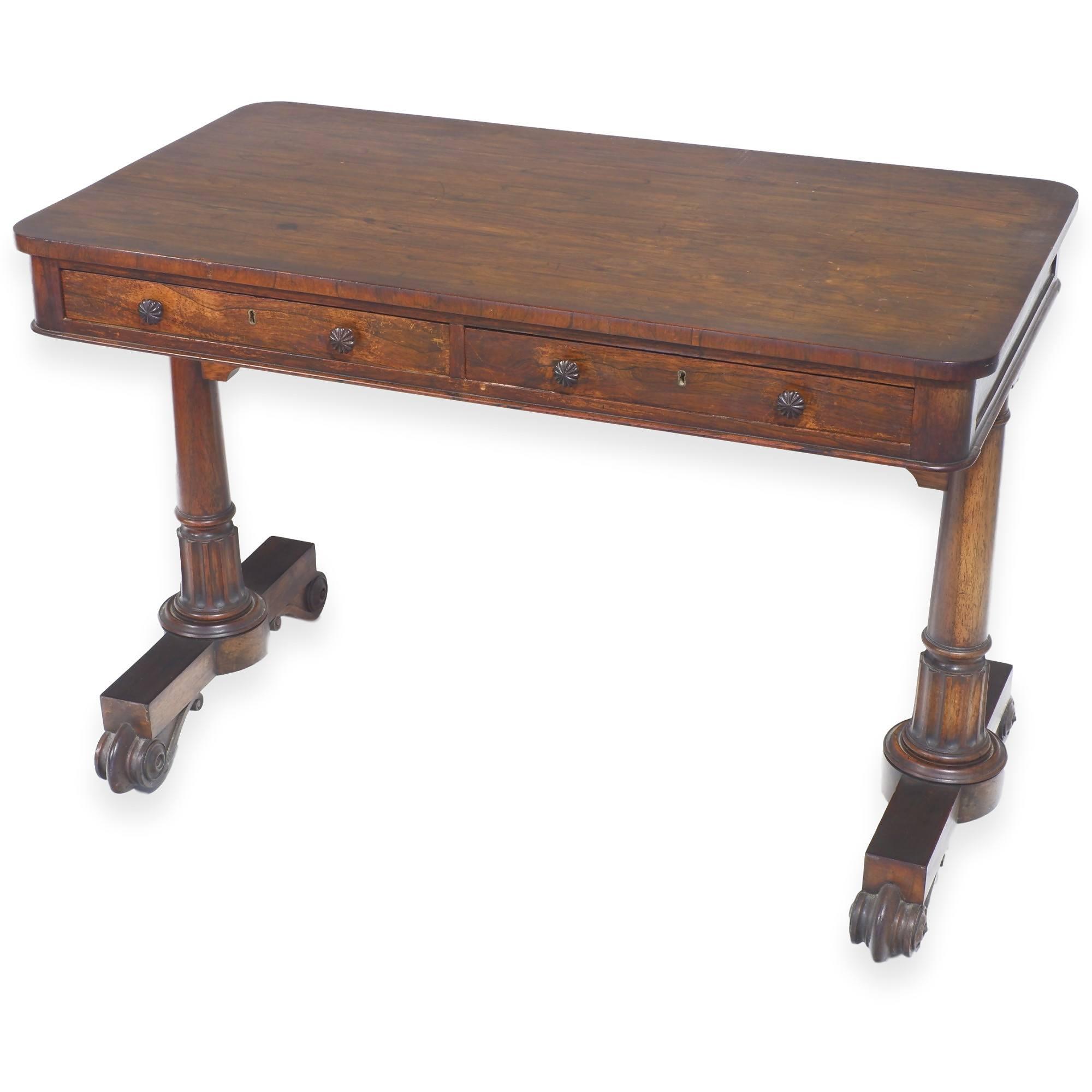 'William IV Brazilian Rosewood Writing Table Circa 1835'