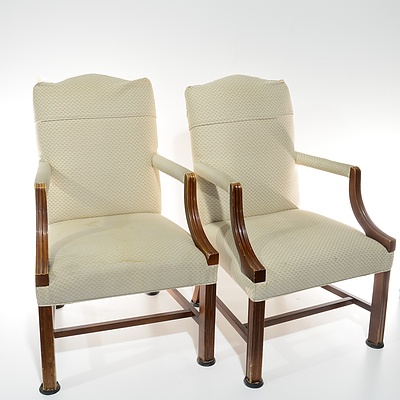 Pair of Cream Upholstered Armchairs