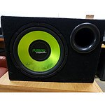 "Fusion 12"" Boxed Subwoofer with Avalanche 4 Channel 600w Amplifier"