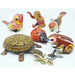 Group of Vintage Tin Wind Up Animals