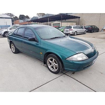8/1998 Ford Falcon Forte AU 4d Sedan Green 4.0L