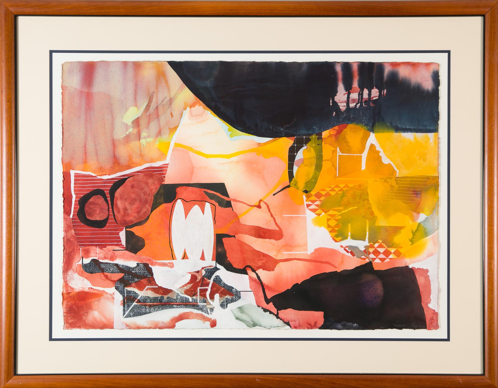 'Lynne Eastaway (1949 -) Mirror 1994, Mixed Media on Paper'
