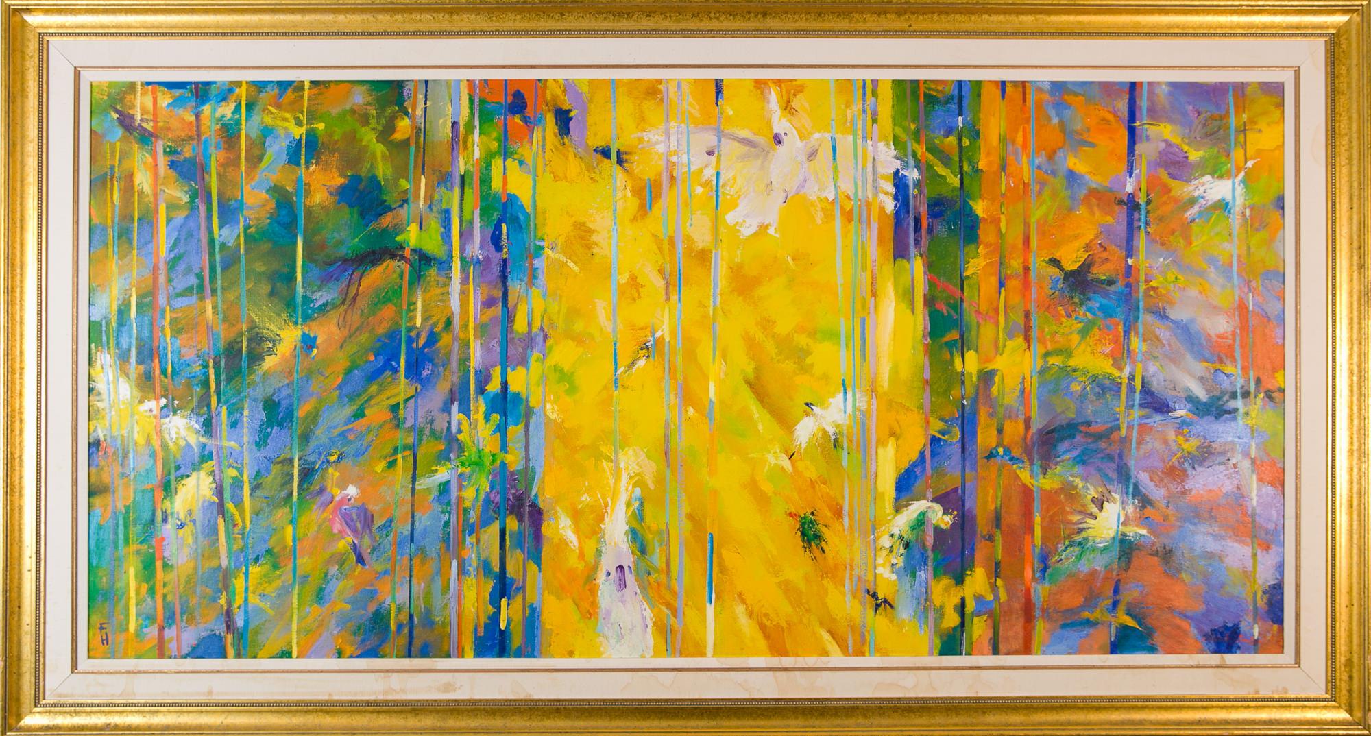 'Frank Hodgkinson (1919-2001) Seasons V 1993, Oil on Linen Board'