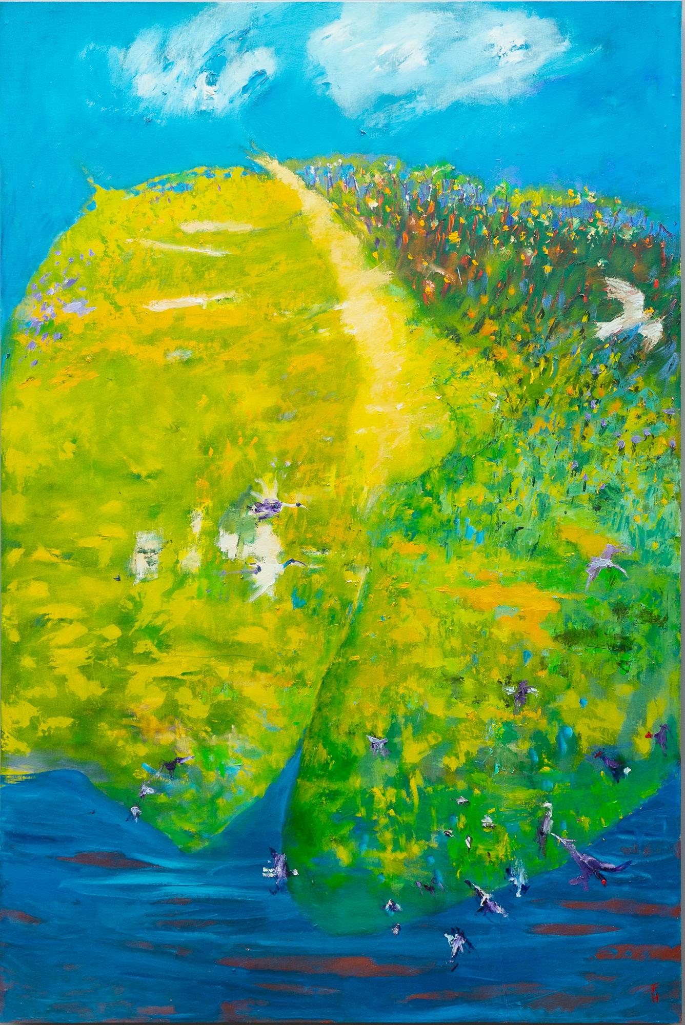'Frank Hodgkinson (1919-2001) Four Seasons - Spring 1993, Oil on Linen Board '
