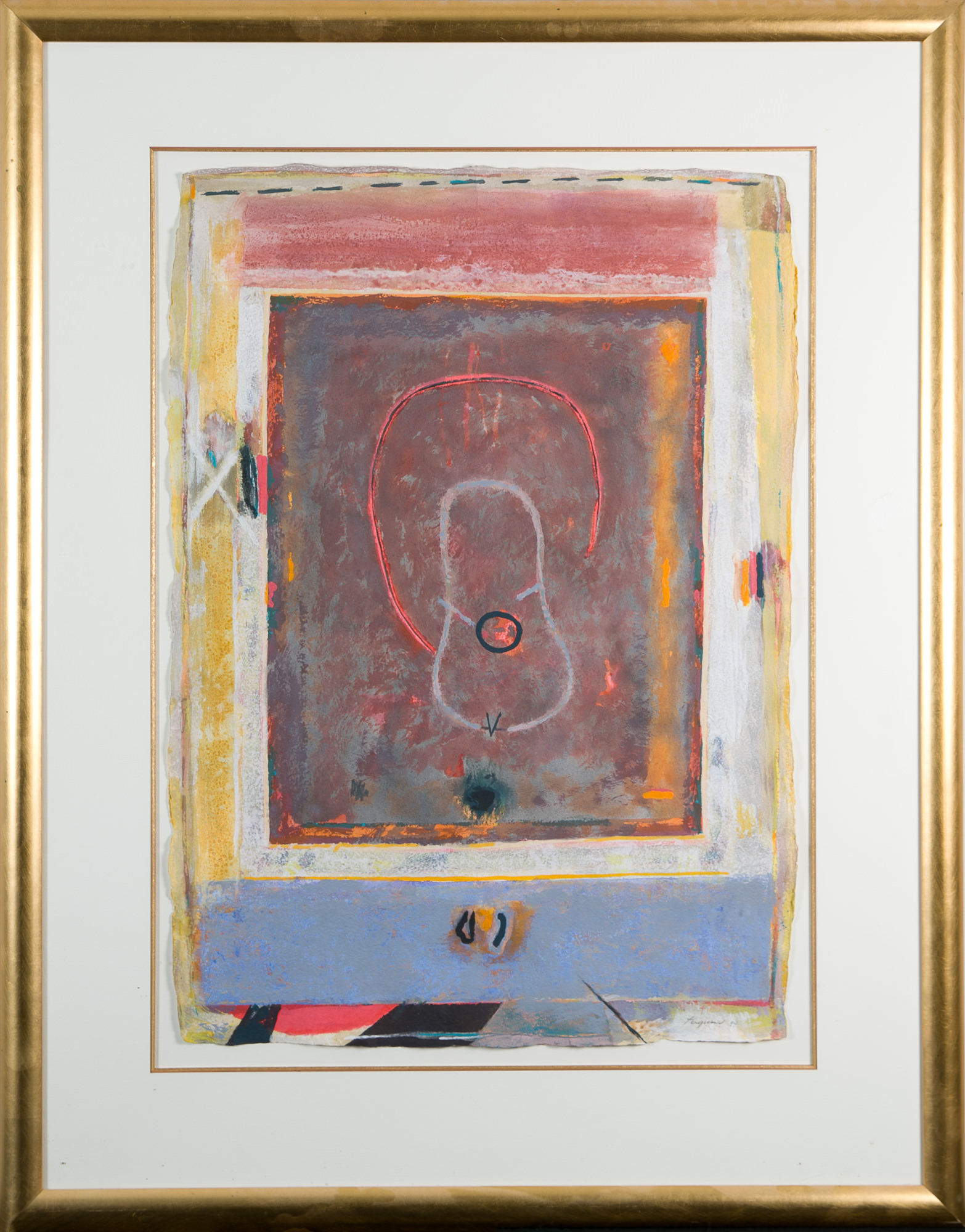 'Bill Ferguson (1932 -) Untitled, Mixed Media on Paper'
