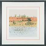 Clement Millward (1929 -) Red Dune Colour Lithograph